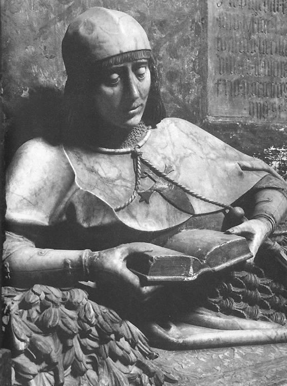 Sebastián de Almonacid, Tombe de Martin Vázquez (detail) c. 1490, Cathedral, Sigüenza (source : wga)