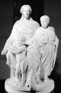 Jules Cavelier, Cornelia, Mère des Gracques, 1861 Marble, height 171 cm Musée d'Orsay, Paris (source: wga)