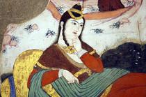 Femme mogole, miniature iranienne