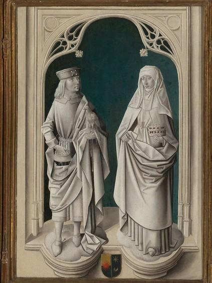 """Maître anonyme flamand, """"Martyre de saint Hippolyte"""", panneaux fermés du triptyque, quatrième quart du XVe siècle, Boston, Museum of Fine Arts © Walter M. Cabot Fund."""