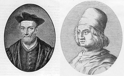 François Rabelais et Ange Politien (sources : Wikipédia et Wikimedia Commons).