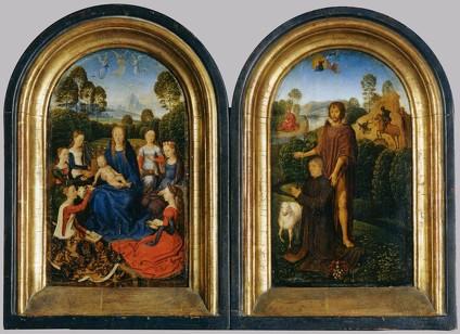 """Hans MEMLING, """"Diptyque de Jean de Cellier"""", (vers 1475), Paris, musée du Louvre (source : WGA)."""