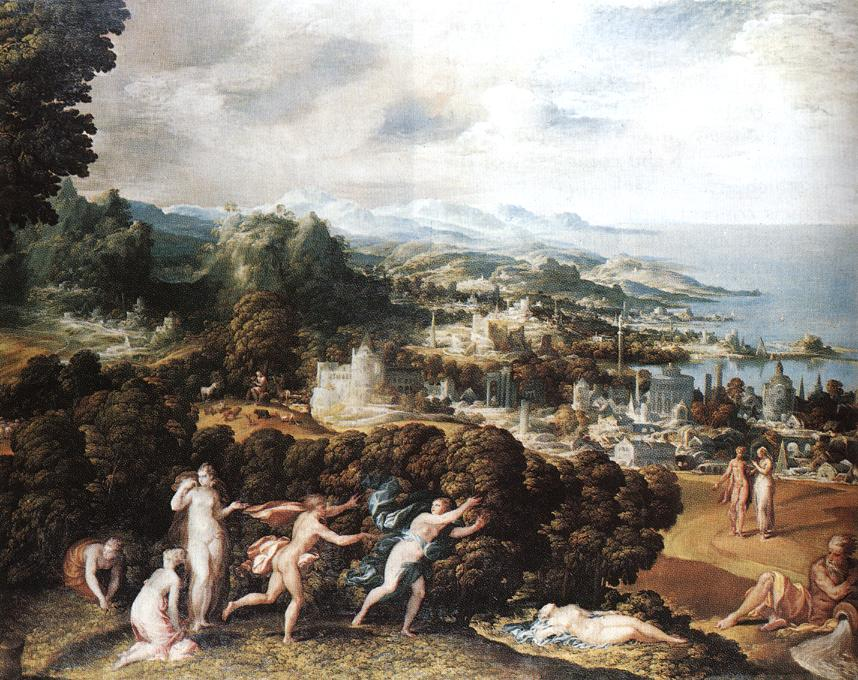 "Niccolò dell'ABBATE, ""Orphée et Eurydice"", (s. d.), Londres, National Gallery (source : WGA)."