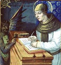 Image du démon Titivillus, XIVe siècle.