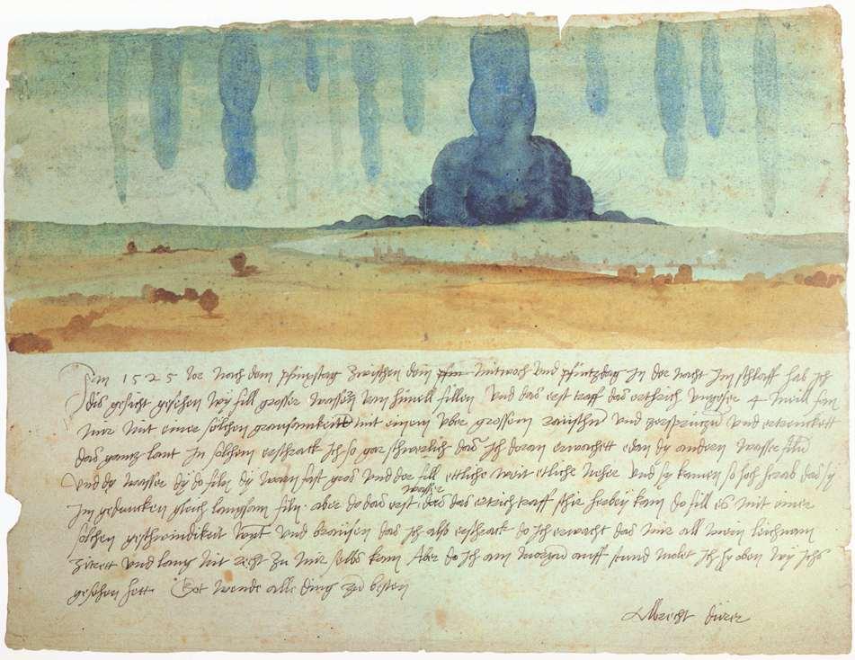 """Albrecht DÜRER, """"Vision de rêve"""", (1525), Vienne, Kunsthistorisches Museum (WGA)"""