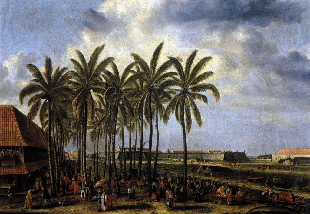 BEECKMAN, Andries, Le château de Batavia, vu depuis Kali Besar West c. 1656, huile sur toile, 108 x 152 cm Rijksmuseum, Amsterdam (wga)