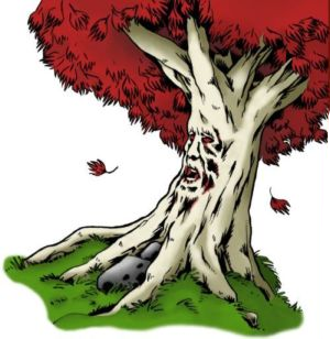 un Weirwood (Barral dans la traduction française) (source : http://www.lagardedenuit.com/)