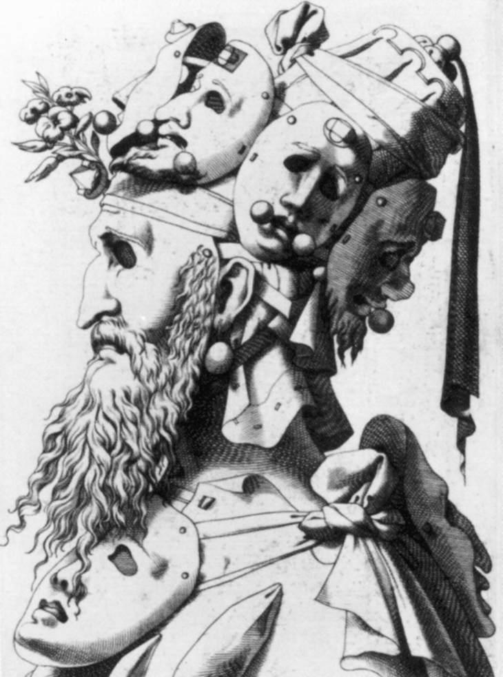 René Boyvin, Tête masquée, gravure sans date, Graphische Sammlung Albertina, Vienne (wga)
