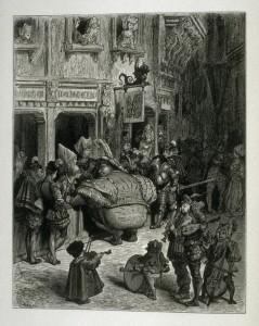 """Gustave DORE, Illustration pour """"Gargantua"""", Paris, Garnier Frères, 1873 (source : Wikipédia)."""