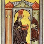 Hildegarde von Bingen, miniature du Liber Scivias (source : wikipédia)