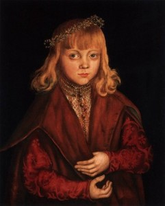 Lucas CRANACH l'Ancien, « Portrait d'un prince de Saxe », (1517), National Gallery of Art, Washington (source : Web Gallery of Arts).