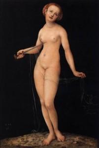 """Lucas CRANACH l'Ancien, """"Lucrèce"""" (1532), Akademie der bildenden Künste, Vienne (source : Web Gallery of Arts)."""