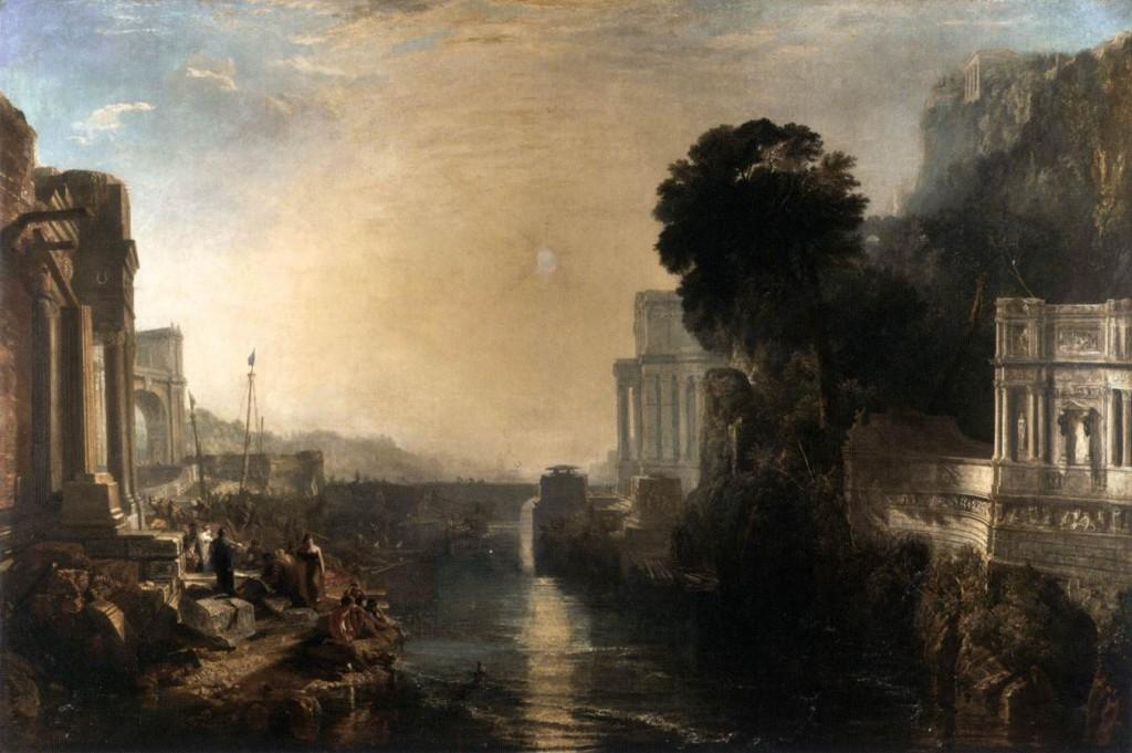 "Joseph Mallord William TURNER, ""Didon construisant Carthage"" (1815), Londres, National Gallery (WGA)"
