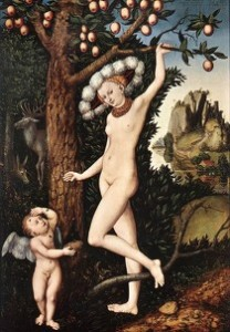 "CRANACH, Lucas the Elder ""Cupidon se plaignant à Vénus"" (1526-27), National Gallery, Londres (source : Web Gallery of Arts)"