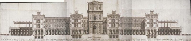 Temple de Salomon, Villalpando (source : wikipédia espagnol, article Juan Bautista Villalpando)