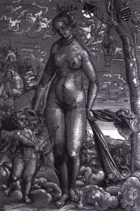 "Lucas CRANACH l'Ancien, ""Vénus et Cupidon"", (1506), Staatliche Museen, Berlin (WGA)."