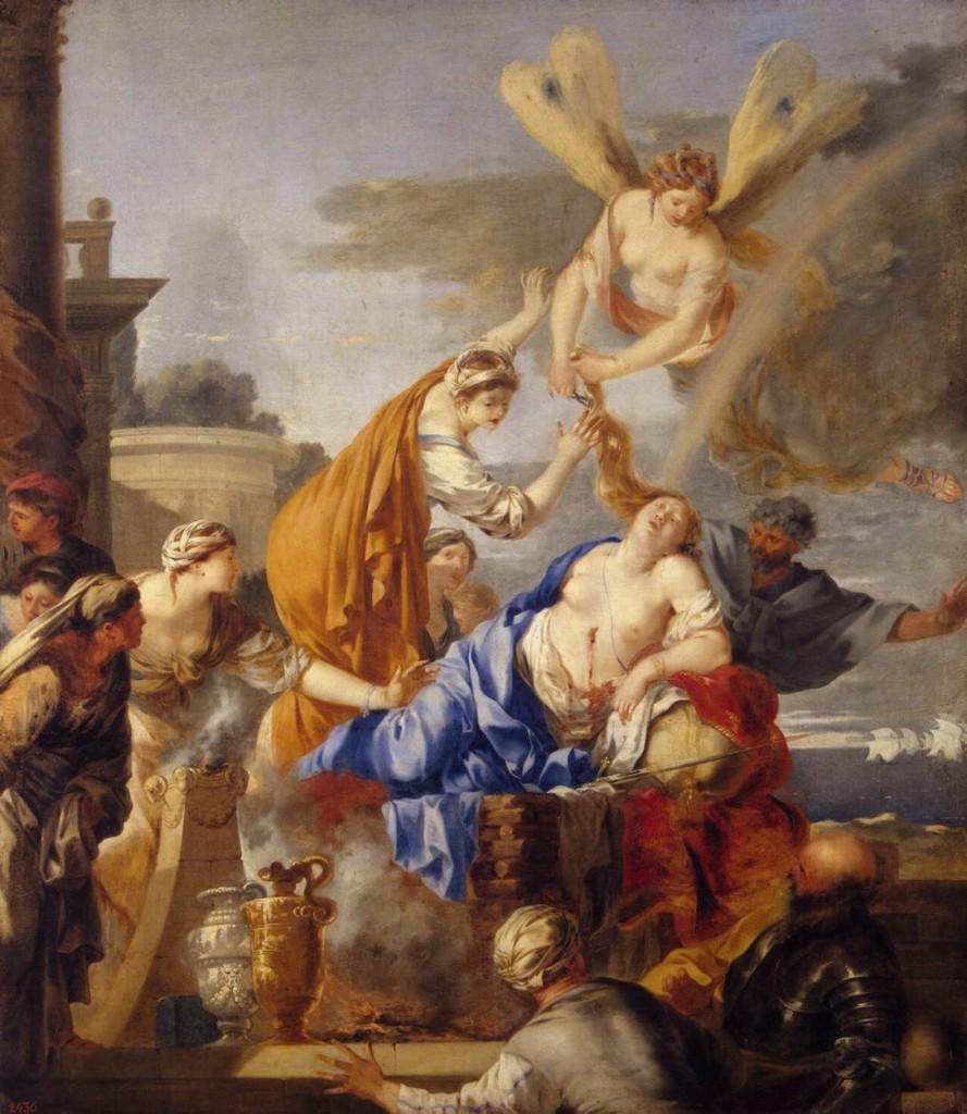 "Sébastien BOURDON, ""La Mort de Didon"", (1637-1640), Saint Petersbourg, Musée de l'Ermitage (WGA)."