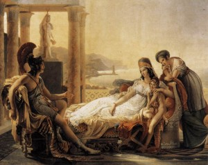 """Pierre-Narcisse GUERIN, """"Didon et Enée"""", (vers 1815), Paris, Musée du Louvre (WGA)."""