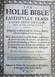 la bible de Douai (page de titre)
