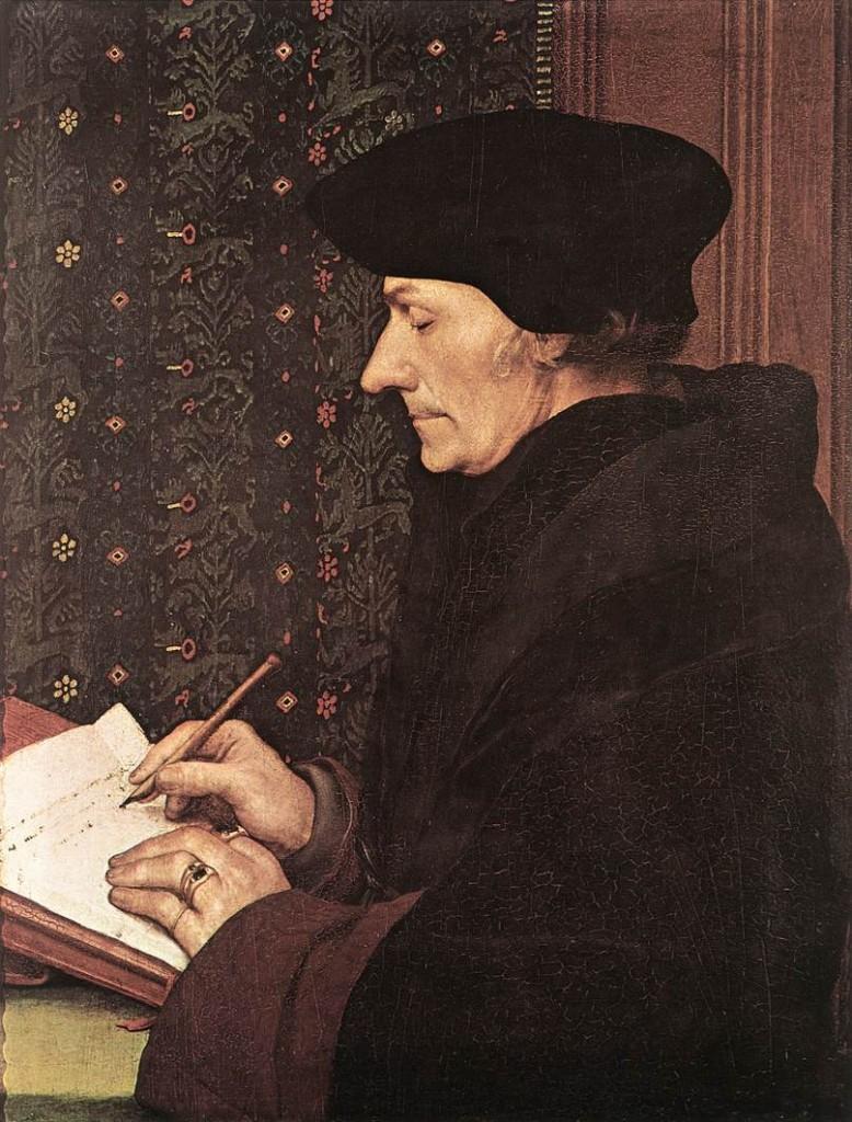 """Hans Holbein le jeune, """"Erasme"""", (1523), Paris, Musée du Louvre, (WGA)"""