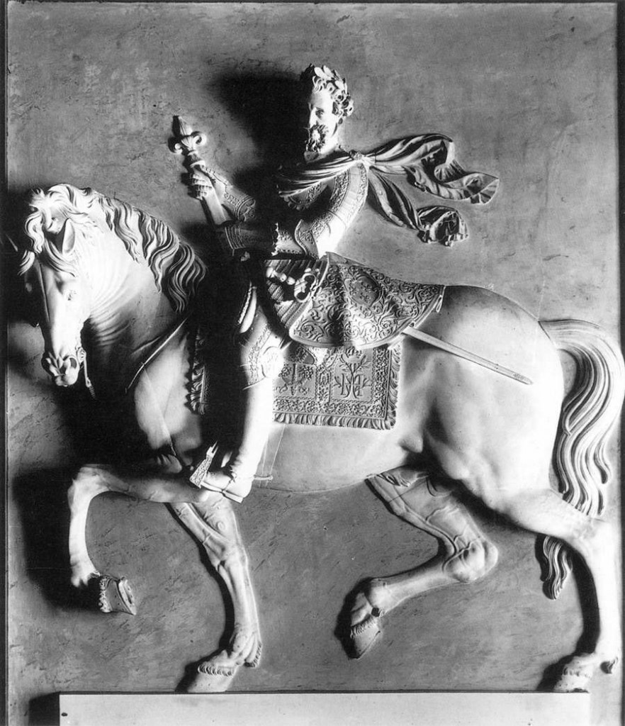 JACQUET Mathieu, Henry IV , Marble, élément de cheminée au château de Fontainebleau (WGA)