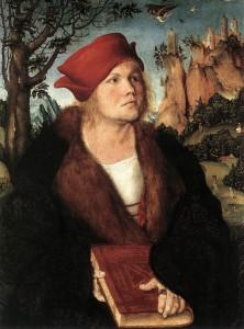 "Lucas CRANACH l'Ancien, ""Portrait du Dr. Johannes Cuspinian"", (vers 1502), Collection Oskar Reinhart, Winterthur (WGA)."