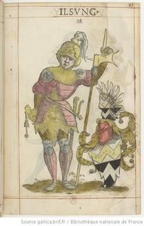 """""""Les figures des officiers, juges et consulz de la Chambre imperialle composée d'Allemens, Flamens et Suisses qui doivent assister au sacre et couronnement de l'Empereur"""", Bâle, Oporin, 1562 (source : gallica)."""