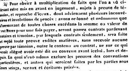 Ordonnance de 1566, article 54, dans Recueil général des anciennes lois françaises, 1821-1833 (source : gallica)