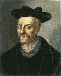 Portrait de François Rabelais, Musée national du château et des Trianons, XVIIe s. (source : wikipédia)