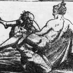 """Position xvi. Les quatre gravures représentant l'""""equus eroticus"""" par Raimondi (source : http://www.alain-claverie.fr/textes/aretin/sonnets.html)"""