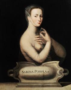 """Maître anonyme de l'école de Fontainebleau, """"Sabina Poppaea"""", vers 1550."""