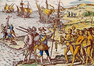 """Théodore de Bry, """"Americae Tertia Pars"""", après 1590.  (Wikipedia)"""
