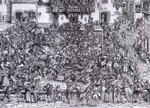 "Lucas CRANACH l'Ancien, ""Le tournoi"", (1509), Städelsches Kunstinstitut, Francfort (WGA)."