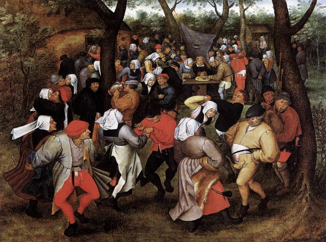 BRUEGHEL, Pieter le jeune : Peasant Wedding Dance, 1607, Musées Royaux des Beaux-Arts, Brussels (source : wga)