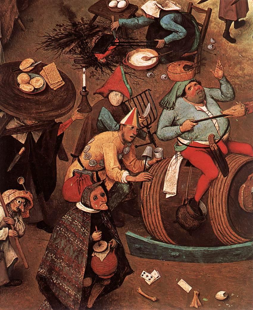 BRUEGEL, Pieter l'Ancien, Le combat de Carnaval et Carême (détail), 1559 Huile sur panneau, 118 x 165 cm Kunsthistorisches Museum, Vienne (source: WGA)