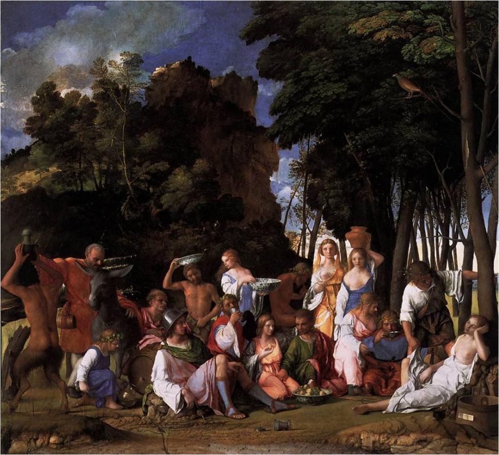 Giovanni Bellini, Fête des Dieux (détail) 1514 Huile sur toile, National Gallery of Art, Washington (source : WGA)