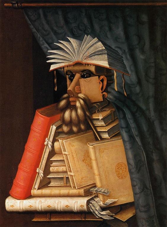 ARCIMBOLDO, Giuseppe The Librarian c. 1566 Oil on canvas, 97 x 71 cm Skoklosters Slott, Bålsta (Stockholm)