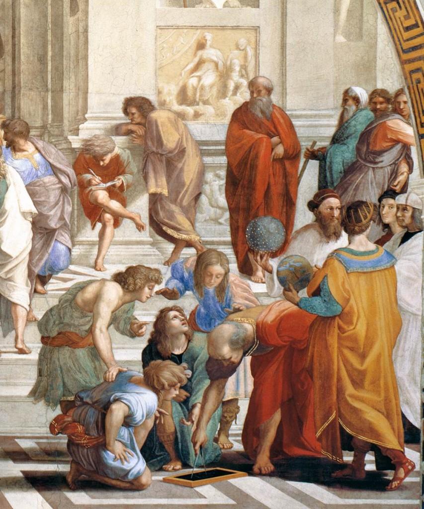 Raffaello Sanzio, L'école d'Athènes (détail), 1509 , Stanza della Segnatura, Palazzi Pontifici, Vatican (WGA)