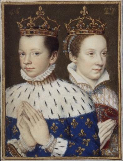 François II et Marie Stuart, reine d'Ecosse, extrait du Livre d'Heures de Catherine de Médicis, BNF (source : wikimedia commons)
