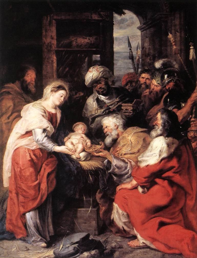 RUBENS, Peter Paul Adoration des mages,i 1626-29 Huile sur toile, 283 x 219 cm Musée du Louvre, Paris