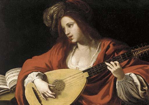 Claude Vignon, Femme jouant du luth, 1593
