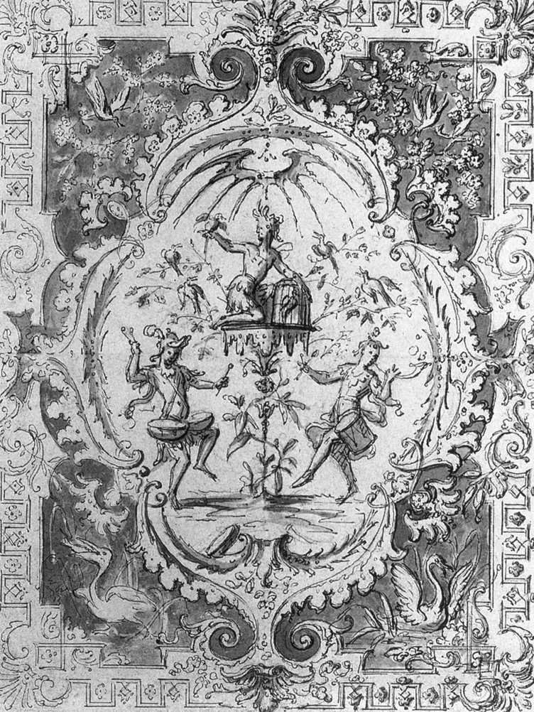 AUDRAN, Claude III Arabesque c. 1704 Dessin, Nationalmuseum, Stockholm