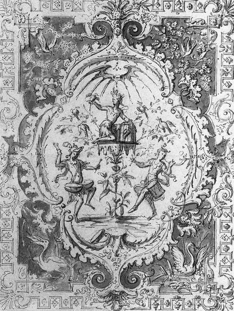 AUDRAN, Claude III Arabesque c. 1704 Dessin, Nationalmuseum, Stockholm
