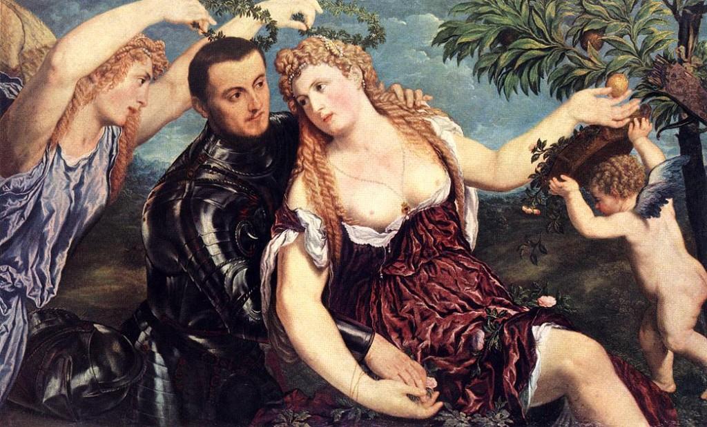 Paris BORDONE, Allégorie aux amoureux, 1550 Huile sur toile, 111,5 x 174,5 cm Kunsthistorisches Museum, Vienna
