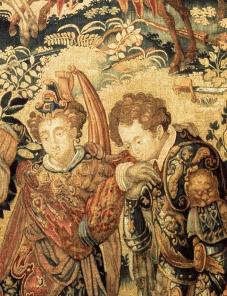François SPIERING, Amadis secourant Oriana (détail), 1602 Laine et soie, Museo Poldi Pezzoli, Milan