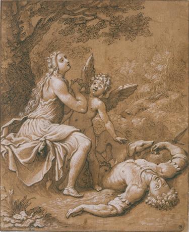 Grégorio Pagani, La mort d'Adonis, ca. 1580-1605, Paris, Ecole Nationale Supérieure des Beaux-Arts.