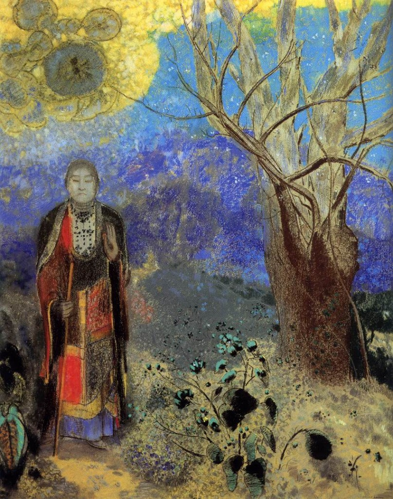 REDON, Odilon, The Buddha, c. 1905, Pastel, 90 x 73 cm Musée d'Orsay, Paris