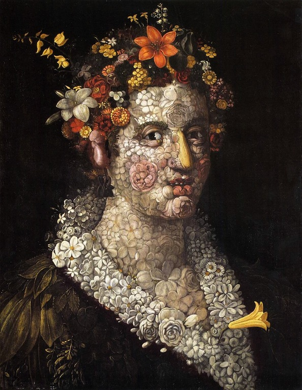 ARCIMBOLDO, Giuseppe, Flora, c. 1591, Private collection (source : WGA)