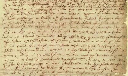 De la main de Shakespeare - un extrait de ses dernières volontés, 25 mars 1616 (source : The National Archives UK. Cliquer sur l'image)