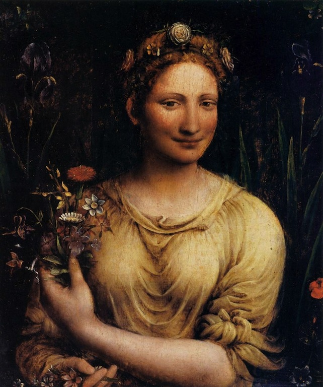 "Francesco MELZI, ""Flora"", Galleria Borghese, Rome (source : Web Gallery of Art)."
